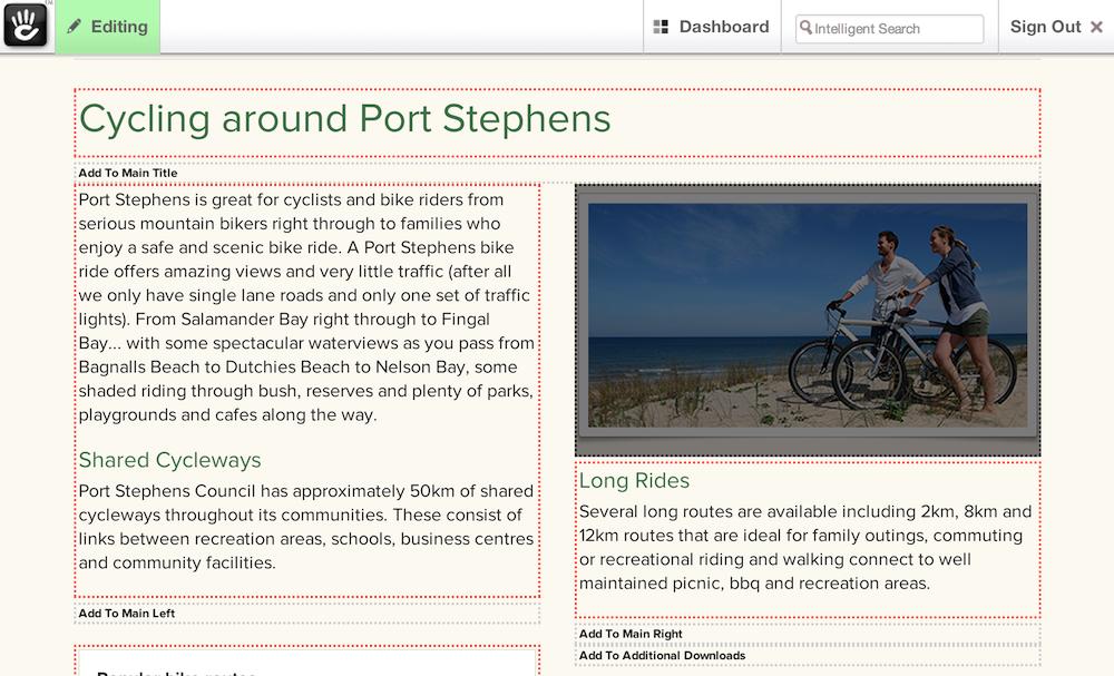 Concrete5 Content Management Screen Shot
