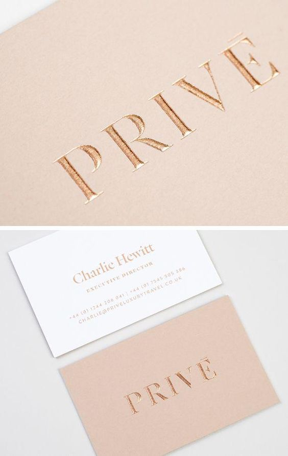 Embossed and foiled